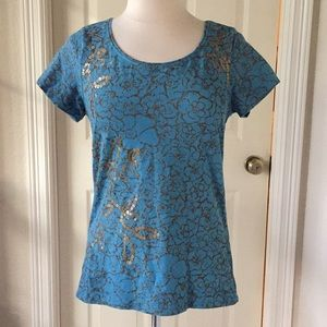 Coldwater Creek Sequined Blouse Sz Medium